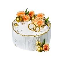 торт Свадебные цветы