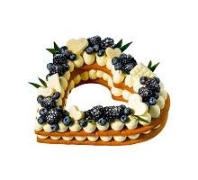 торт Сердце с ежевикой 0,8 кг