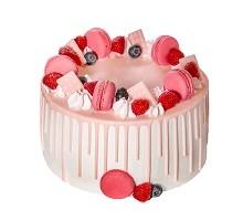 торт Малинка на розовом облаке