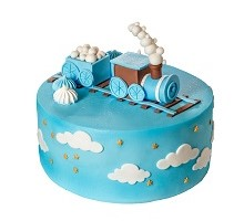 торт Голубой паровозик