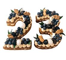 """торт Торт-цифра """"23 февраля"""""""