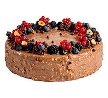 торт Карамельный со смородиной