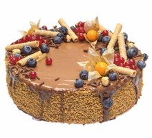 торт Медовик сметанный в шоколаде