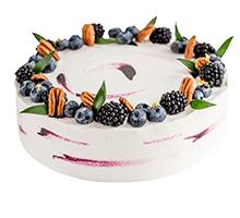 торт Черничный кейк с лавандовым кремом