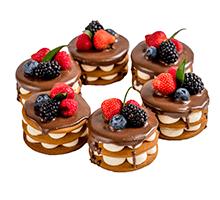 торт Пирожное Медовое с ягодой