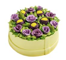 торт Лиловая корзина цветов