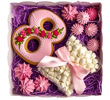 "торт Набор ""С 8 Марта розовый с маршмэллоу"""