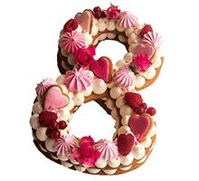 """торт Торт-цифра """"С 8 Марта розовый"""""""