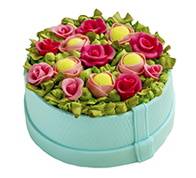 торт Алая корзина цветов