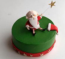 торт Санта (зеленый)