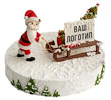 торт Дед мороз и сани