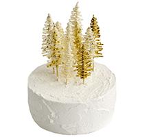 торт Золотой зимний лес
