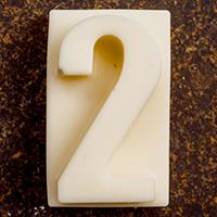 торт Шоколадная цифра 2 (белый шоколад)