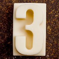 торт Шоколадная цифра 3 (белый шоколад)