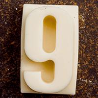 торт Шоколадная цифра 9 (белый шоколад)