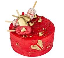 торт Цвет настроения красный