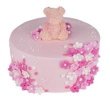 торт Цветочный мишка