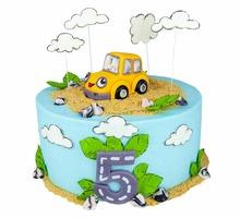 торт Машинка в облаках
