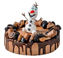 торт Снеговик в шоколаде