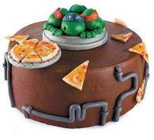 торт Черепашки Ниндзя в люке