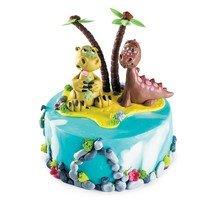 торт Два динозавра