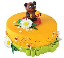 торт Мишка в ромашках