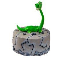 торт Зеленый динозавр