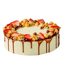 торт Поп-корн и клубника
