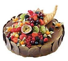 торт Рог изобилия с фруктами
