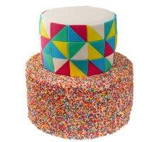 торт Радужная мозаика