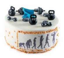 торт В здоровом теле - здоровый дух
