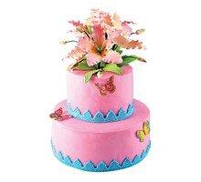 торт Цветы и бабочки