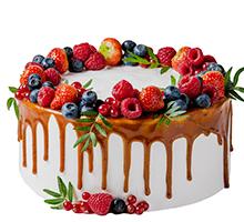 торт Ягодное безумиеначинка на выбор