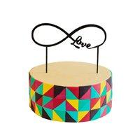 торт Топпер Бесконечная любовь(черный)