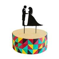 торт Топпер Жених и невеста(черный)