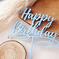 торт Топпер Happy Birthday(голубой)