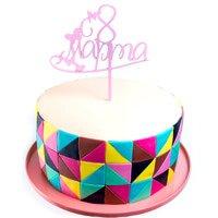 торт Топпер 8 марта(розовый)