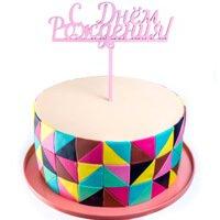 торт Топпер С днем рождения(розовый)